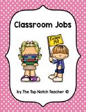 Classroom Jobs Bulletin Board & Labels