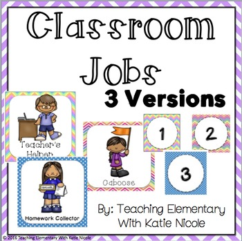 Three Bright and Colorful Classroom Job Displays