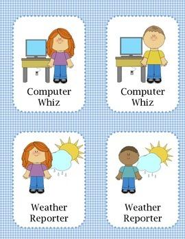Classroom Jobs- 32 Printables