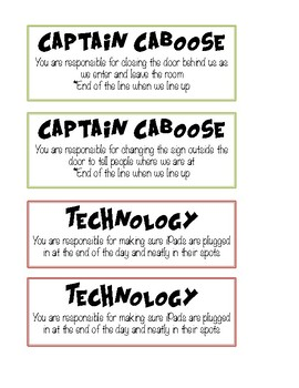 Classroom Jobs (Plain and Superhero)