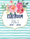 Classroom Jobs watercolor theme