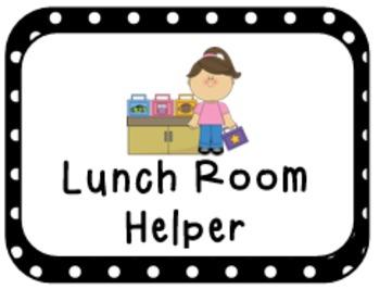 Classroom Jobs:  A Special Request (Dots)