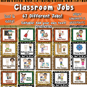 Classroom Jobs  APT-001