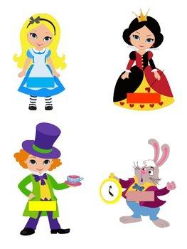 Classroom Jobs Alice in Wonderland Theme