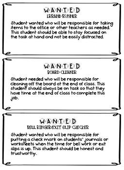 Classroom Jobs & Application