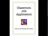 Classroom Jobs - Application, Guide, Descriptors, and More!