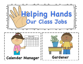 Classroom Jobs: Application and Pocket Chart Cards