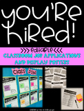 Classroom Jobs: Applications and Display Printables