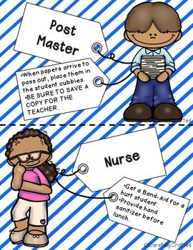 Classroom Jobs Stripes