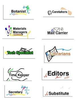 Classroom Jobs & Badges