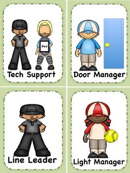 Classroom Jobs: Baseball Card Edition!