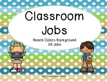 Classroom Jobs Beach Background