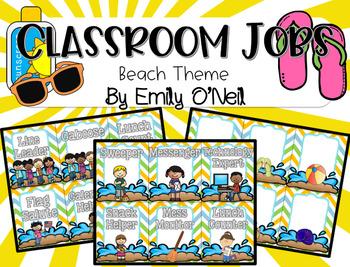 Classroom Jobs (Beach Theme)