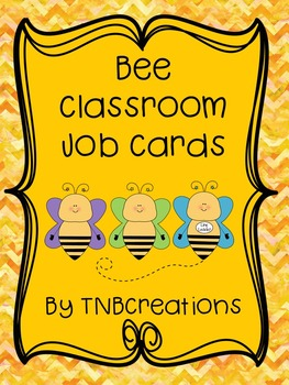 Bee Classroom Job Cards