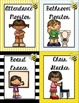 Classroom Jobs Bee Theme EDITABLE