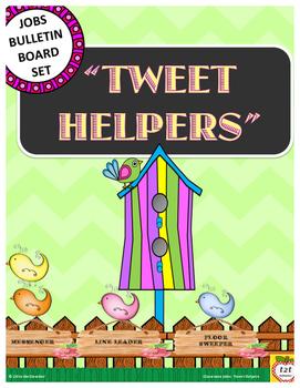 Classroom Jobs:  Classroom Helpers Bulleting Board Display