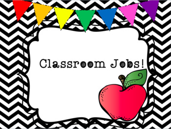 Classroom Jobs   Black and White