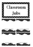 Classroom Jobs {Black and White Polka Dot}