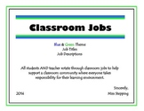 Classroom Jobs - Blue & Green