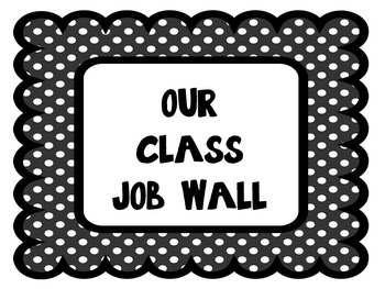 Classroom Jobs Board- Over 40 jobs, header and application sheet