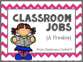 Classroom Jobs {Bright Chevron}