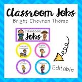 Classroom Jobs - Bright Chevron Theme