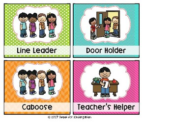 Classroom Jobs (Bright Colors)