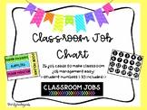Classroom Jobs - Bright Colors!