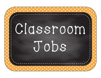 Classroom Jobs -  Bright Polka Dots & Chalkboard - boys and girls