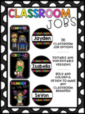 Classroom Jobs - Bright and Black