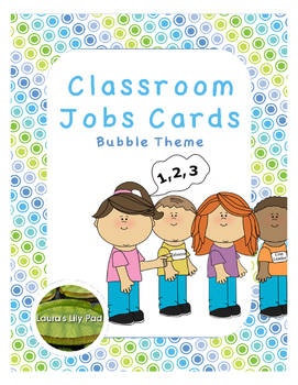 Classroom Jobs Bubble Theme