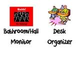 Classroom Jobs Bulletin Board Signs