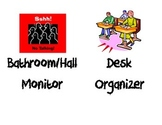 Classroom Jobs Bulletin Board Signs