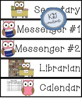 Classroom Jobs Bulletin Board or Pocket Chart