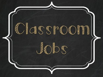 Classroom Jobs - Burlap, Chalkboard, and Tan