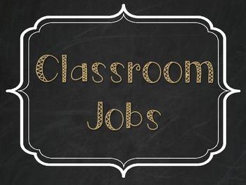 Classroom Jobs - Burlap, Chalkboard, and Tan