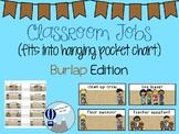 Classroom Jobs Burlap Theme