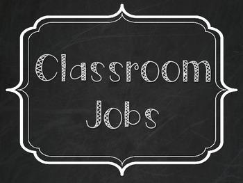 Classroom Jobs - Burlap and Chalkboard