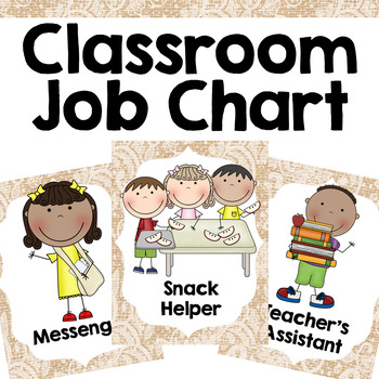 Classroom Jobs {Burlap and Lace}