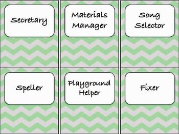 Classroom Jobs (C.D. Aligned) BUNDLE