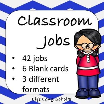 42 Classroom Jobs (C.D. Aligned) Dark Blue Background