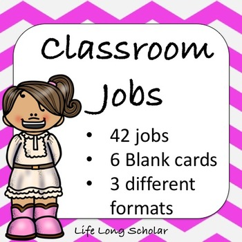 Classroom Jobs (C.D. Aligned) Dark Pink Background