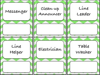 Classroom Jobs (C.D. Aligned) Green Background