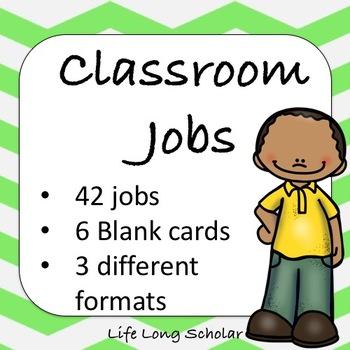42 Classroom Jobs (C.D. Aligned) Green Background