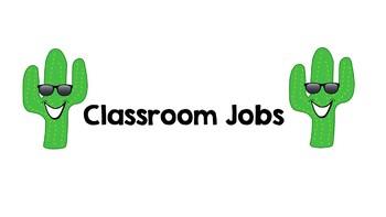 Classroom Jobs Cactus Decor