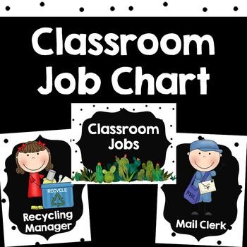 Classroom Jobs {Cactus Succulent Theme}