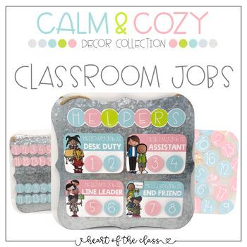Classroom Jobs - Calm & Cozy Collection