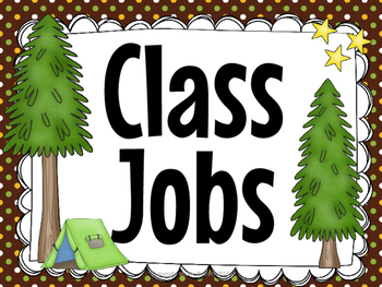 Classroom Jobs- Camp Theme