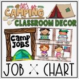 Classroom Jobs Camping Classroom Decor Theme
