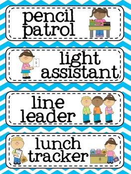 Classroom Jobs Card Set